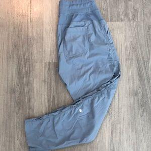 Light blue Lululemon athletic pants, size 8.
